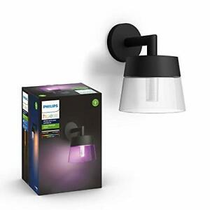 Philips Hue Attract White and Color Ambiance LED Smart Outdoor Wall Lantern.