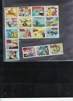 USA Assorted Cartoon Characters Stamp Part Block - No Gum Info on Back Ref 34083