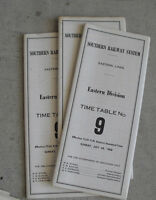 Lot of 3 Vintage 1968 Southern Railway System Train Timetables LOOK