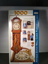 1000 Piece Antique Dutch Wall Clock Jigsaw Puzzle w/ Working Clock