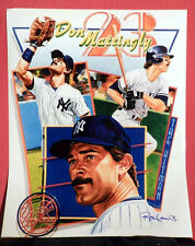 N Y Yankee Great Don Mattingly Lithograph By Artist Ron Lewis