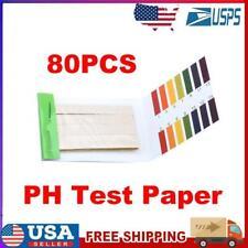 80 Strips Ph Meters Indicator Paper Ph Value 1 14 Litmus Testing Paper Kit