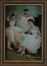 C. Fowler - Framed 20th Century Oil, Ballet Dancers at the Piano