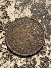 1917 Netherlands 1 Cent Lot#Q7906