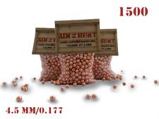 1500 x 4.5mm / 0.177 PREMIUM GRADE PELLETS METAL BALL BB STEEL AIRGUN PISTOL BBS