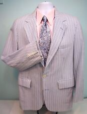 ASHLEY REED  Blue Yellow White Summer Striped Blazer Sport Coat Jacket - 40 R