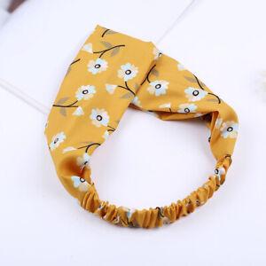 Women Girls Summer Bohemian Hair Bands Flower Print Headbands Or Hair Scrunchies