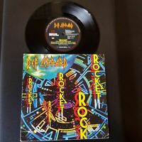 "Def Leppard - Rocket-Vinyl,7"",45 RPM,single Rock Sammlung UK 1989"