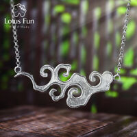 Vintage Sunset Cloud Necklace for Women Solid 925 Sterling Silver Fine Jewelry