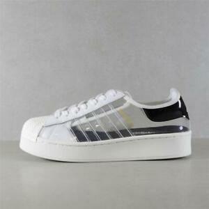 Womens Adidas Superstar Bold Cloud White Trainers (TGF60) RRP £79.99