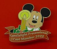 Disney Enamel Pin Badge Cast Member Exclusive 2009 Mickey Candlelight Procession