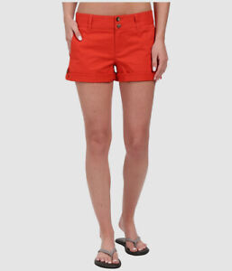 $65 Mountain Khakis Womens Red Classic Fit Roll Up Chino Short Shorts US Size 14