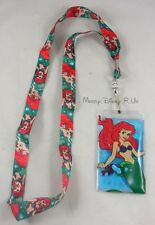 Disney The Little Mermaid Ariel Water Pouch Floating ID Card Pin Holder Lanyard