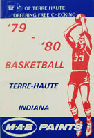 Terre Haute Indiana Rare High School 1979 - 80 Basketball MAB Paints Booklet