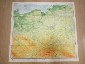 Paper map Poland atlas geografichny Polska 1:1250000 Warszawa 1983