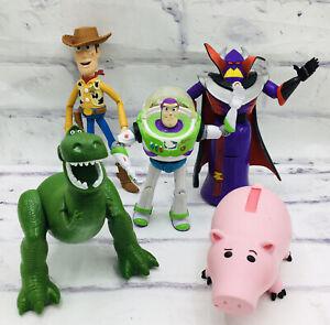 Disney Pixar Toy Story Action Figure Lot Of 5 Woody Buzz Rex Hamm Zurg Set Toys