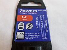 """New Powers Wedge-Bit SDS Plus 1/4""""x12"""" Drill Bit  #706"""