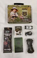 Junior Explorers Kit in Handy Camo Tin with Carry Handle Cadets Survival Camping