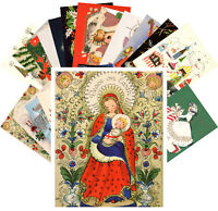 Postcards Pack [24 cards] Vintage Christmas Card Mix Cute Snowman Angel CE5005