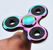 Rainbow Figet Tri-Spinners Hand Desk Colorful Ceramic Focus Handmade Toys EDC
