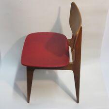 chaise hetre 1950 bois design reconstruction Roger Landault