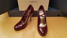 Carvela Shoes Ladies Red Patent Leather Mary Jane with Double Straps - size UK 8