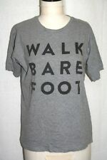 "t shirt B&C exact 190 - gris - S - ""walk bare foot"" - neuf"