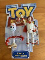 Disney Pixar Toy Story 4 FORKY & DUKE CABOOM  Basic Figures Poseable Gift