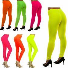 New Womens Plain Neon Colour Gymnastic Club Dance Wear Pants Leggings