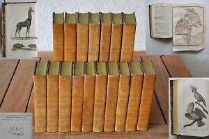 HISTOIRE NATURELLE - BUFFON + LACÉPÈDE - 17 vol. - 1817 - 338 gravures - Bel ex.