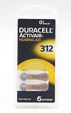 60 x Duracell Hörgerätebatterie easytab Typ 312 - PR41 - 10x6er Blister