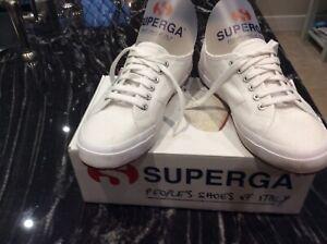 Ladies White Superga Size Uk 7 Cotu Classic Immaculate Condition.