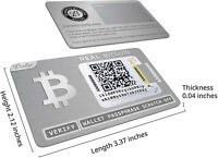 One Ballet Real Bitcoin - Physical Cryptocurrency Wallet with Multicurrency