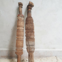 moroccan berber pikes, very unique hand carved wooden berber tent peg from Moroc