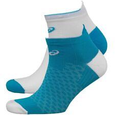 Asics Two Pack Lightweight Running Ankle Socks Diva Blue Uk 9-10 Eu 43-46 Womens