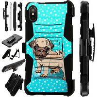 Lux-Guard For iPhone 6/7/8 PLUS/X/XR/XS Max Phone Case CoverSNOW PUG DOG