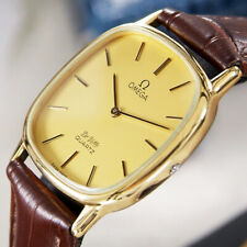 Vintage Omega Deville  Quartz Cal.1365  Gold -Plated Men's Dress Watch