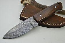 Jagdmesser Damastmesser Taschenmesser HANDARBEIT Damast Skinner Palisander #128
