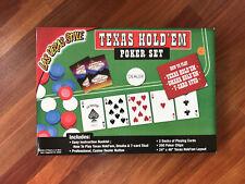 Texas Hold 'em Poker Set Las Vegas Style Games Chips Casino Dealer Unused