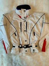 Obermeyer White Ski Jacket with Red and Black Trim Pristine Condition $429 MSRP