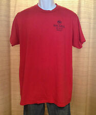Men's BACARDI BLACK RAZZ Fruity Rum Size Large RED Logo Promo T-SHIRT Bar Tee