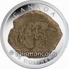 Canada 2010 Dinosaur Fossil Euoplocephalus Ankylosaurus $4 Pure Silver Proof