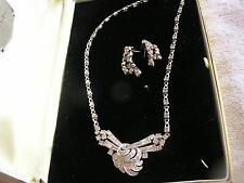 E.B. Necklace and Earrings with Old Jewelry Box Victor G Loly Jeweler