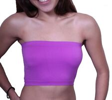 Women's Basic Stretch Bandeau Bra Tube Top One Size FREE SHIPPING  PRICE$4.79