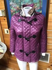 BURBERRY TOGGLE QUILTED JACKET HOODED SIZE XS 2
