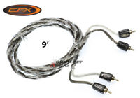 Efx Revo9 Revo Series 9 Ft 9' Twisted Shielded 2 Channel Rca Cable Ofhc Copper
