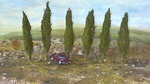 Model Train  TREES  POPLARS  HO  OO  80mm 6 trees