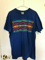 PENDLETON NATIVE INDIAN  PRINT GRAPHIC MENS MADE IN USA VTG T-SHIRT  SIZE XL