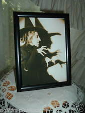 WICKED WITCH OF THE WEST 5X7 FRAMED PICTURE HALLOWEEN SHELF SITTER GATHERING