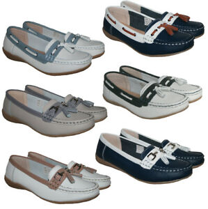 LADIES / WOMENS REAL LEATHER TASSEL MOCCASSIN SHOE LOAFER 5 OPTIONS SIZES 3-8